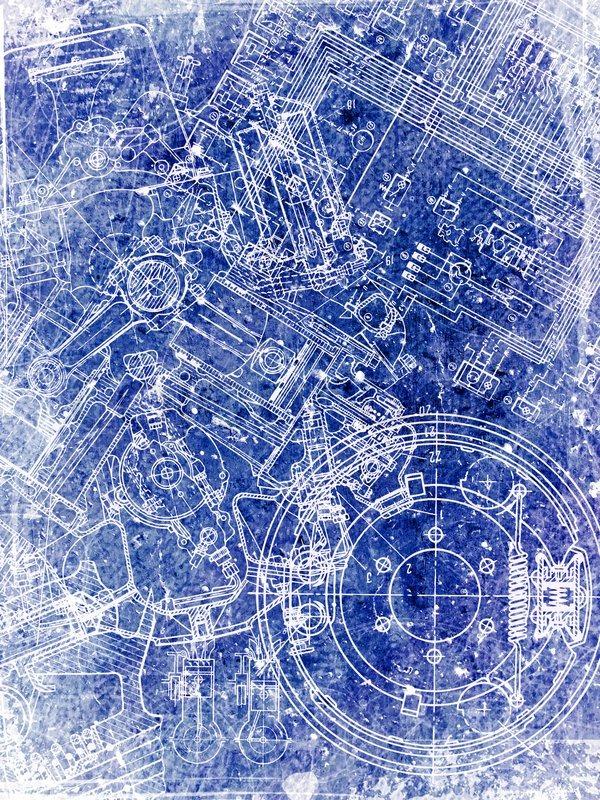 Alten Grunge Pergament Blatt mit Blaupause auf sie | Stockfoto ...