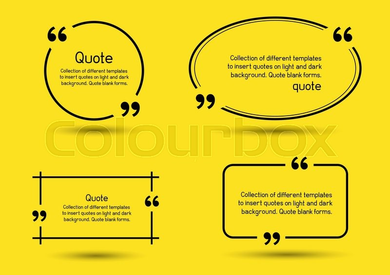 templates for writing quote round square oval rectangular quotes