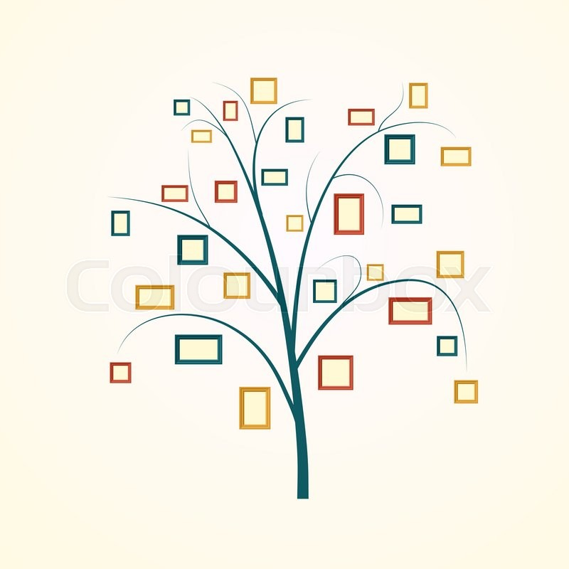 Family Tree Design Insert Your Photos Stock Vector Colourbox