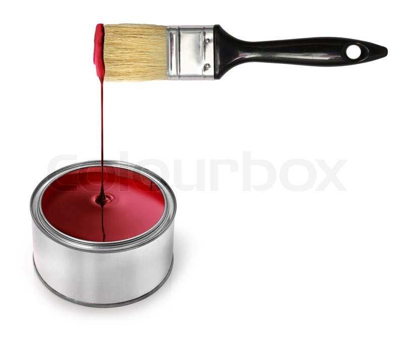 How To Price House Paint Jobs The Home Seller S Guide: Glossy Red Paint Dripping From Brush In Tin Can