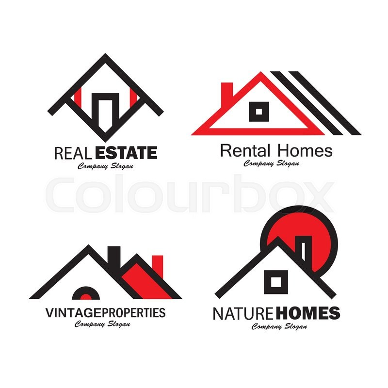 Set Of Line Icons Of Buildings Vector Logos. This Also