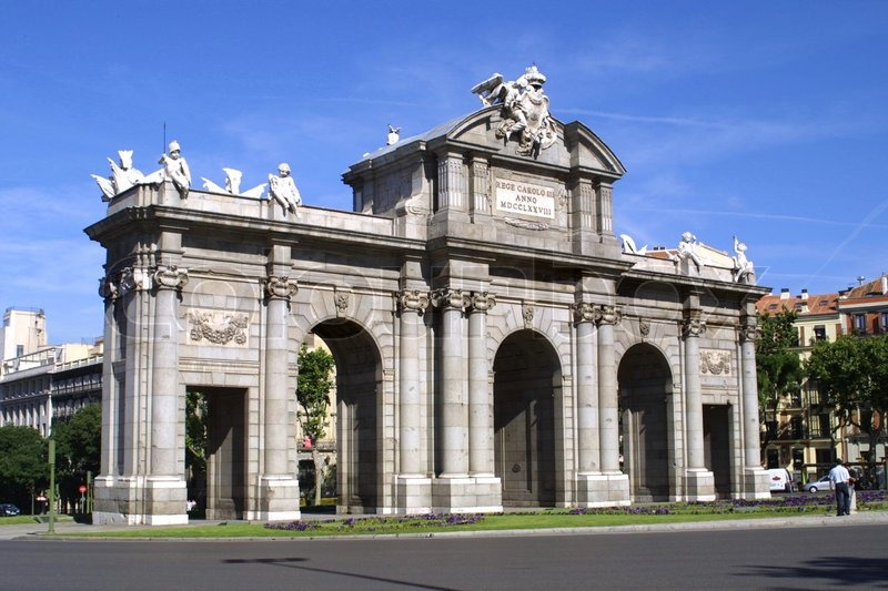 Alcala Gate (Puerta de Alcala) - Monument in the Independence Square in Madri...