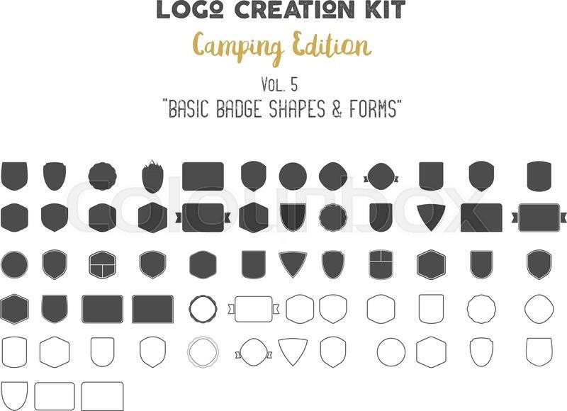 Logo Creation Kit Bundle Camping Edition Set Basic Badge Shapes