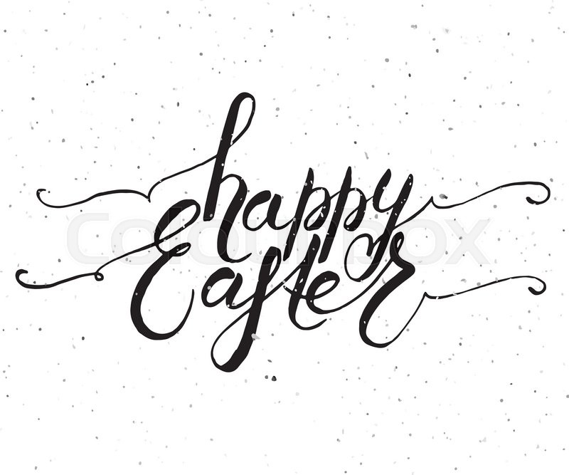 Hand sketched happy easter text as logotype badge and icon easter hand sketched happy easter text as logotype badge and icon easter postcard card invitation flyer banner template easter lettering typography m4hsunfo