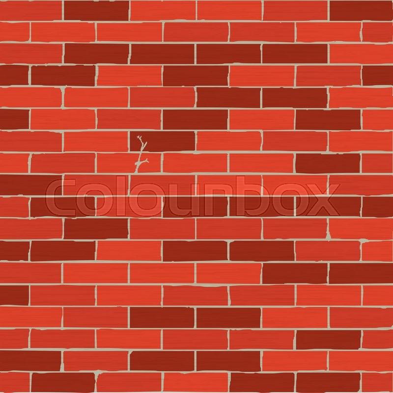 Texture Of A Cartoon Brick Wall. Brown ...