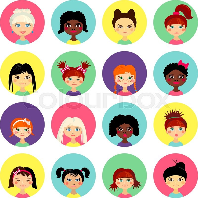Avatar Set With Womens Of Different Ethnicity Origin
