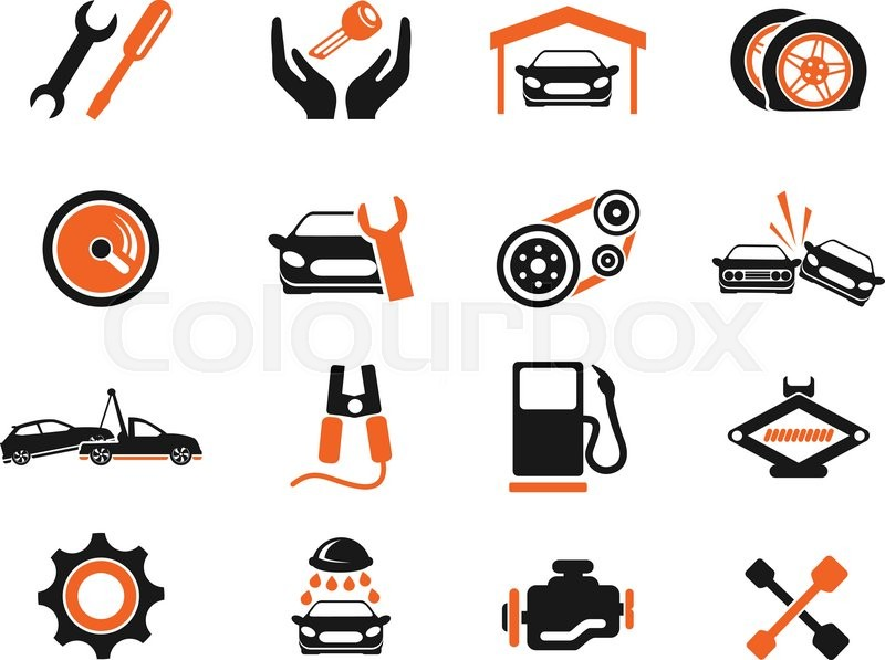 Auto Service Simply Symbol For Web Icons And User Interface Stock