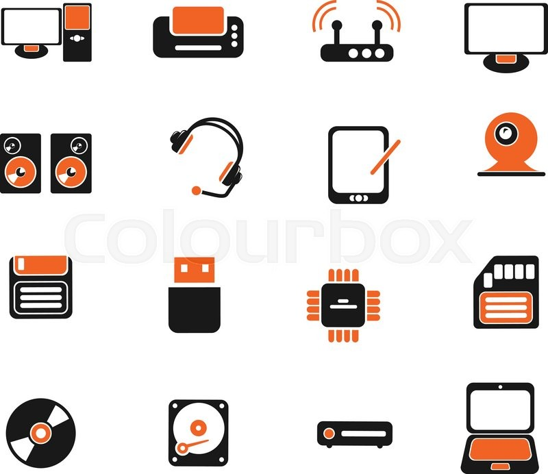 Computer Equipment Simply Symbols For Web And User Interface Stock
