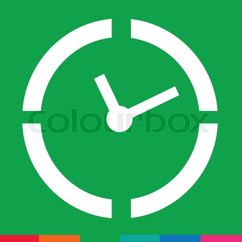 time clock icon illustration sign design stock vector colourbox