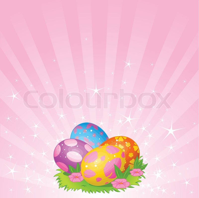 Abstract Easter Background With ...