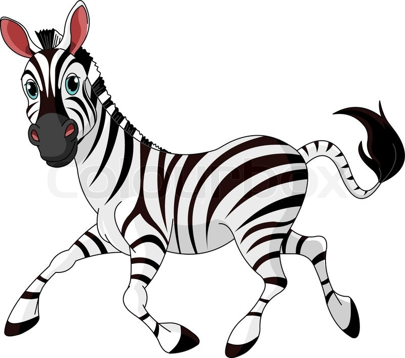 illustration of funny running zebra stock vector colourbox rh colourbox com zebra vector free download zebra vector free