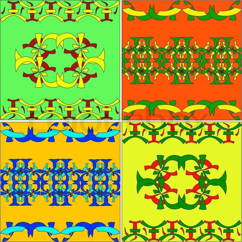 set der arabischen ornamenten  östlich kultur