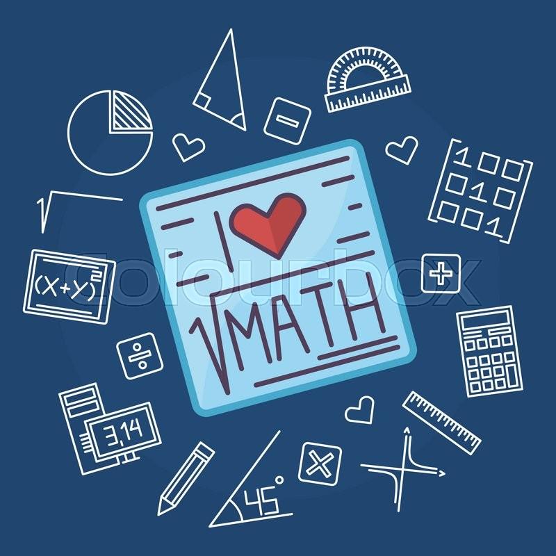 math education background design vector mathematics blue flat