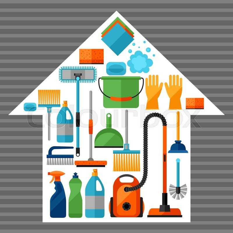house cleaning background housekeeping background with cleaning icons image can be used on