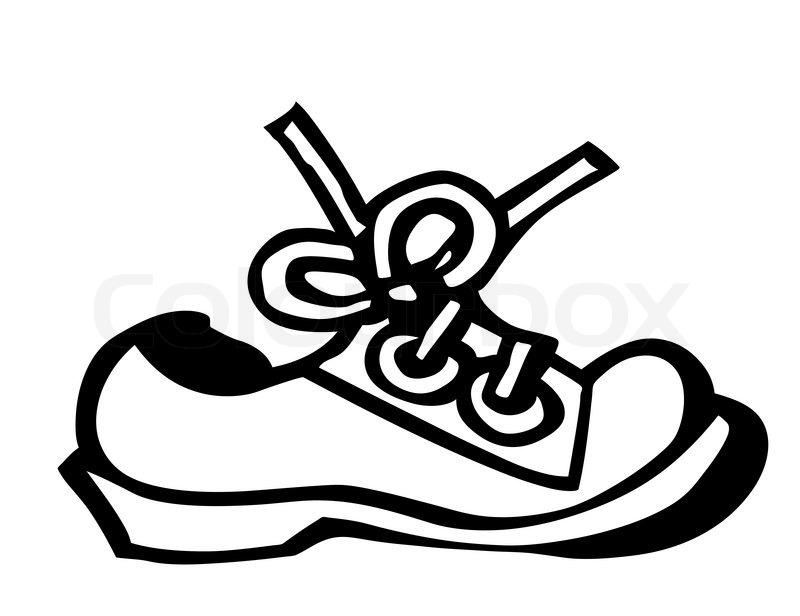 Stock vektor af vektor silhuet sko på hvid baggrund
