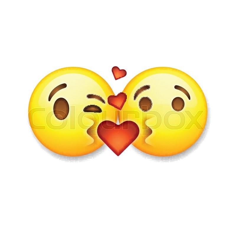 Kissing Emoticons Valentines Day Emoticon Icons Love Emoji Symbols