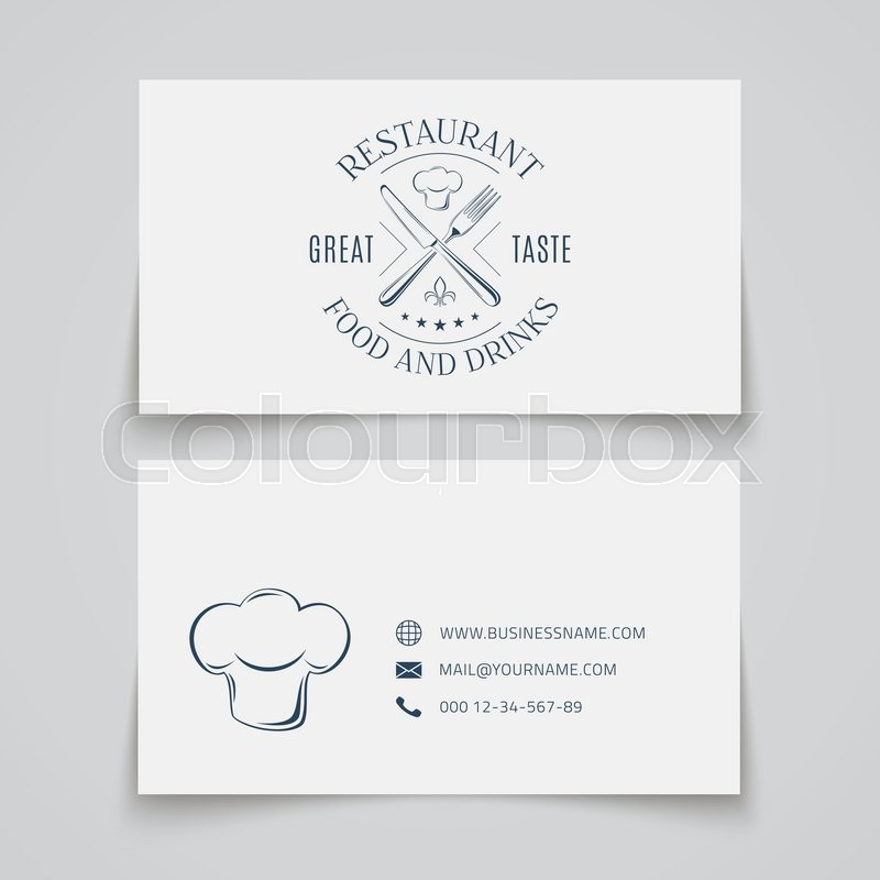 Business card template with logo for restaurant, cafe, bar or fast ...