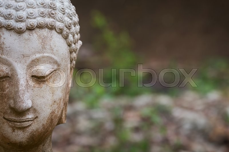 Buddha statue in wat umong, chiang mai, travel thai temple in northern thailand, thailand, stock photo