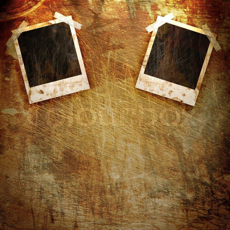 Old Polaroid Frame On Grunge Background Stock Photo