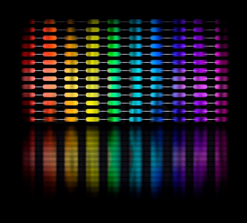 Graphic equalizer display showing moving color light bars on black graphic equalizer display showing moving color light bars on black background stock photo colourbox mozeypictures Image collections