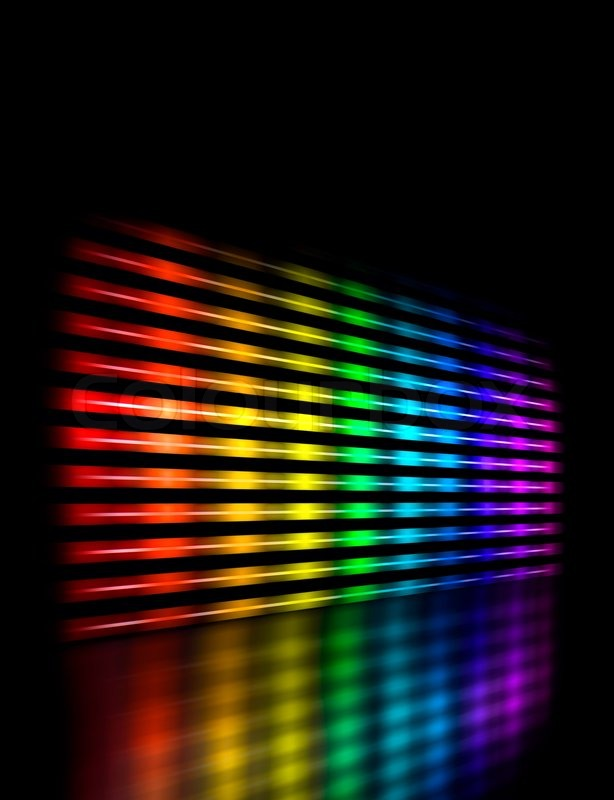 Perspective graphic equalizer display showing moving color light perspective graphic equalizer display showing moving color light bars on black background stock photo colourbox mozeypictures Image collections