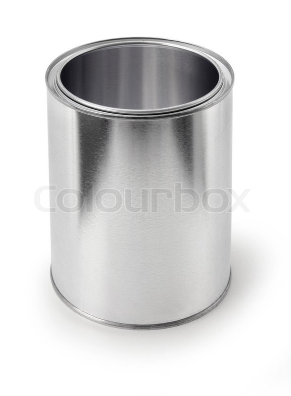 Empty Tin Can Stock Photography: Empty Metal Tin Paint Can Isolated On ...