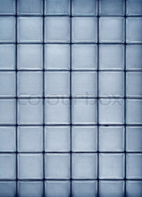 transparent textured square glass tile vertical wall construction