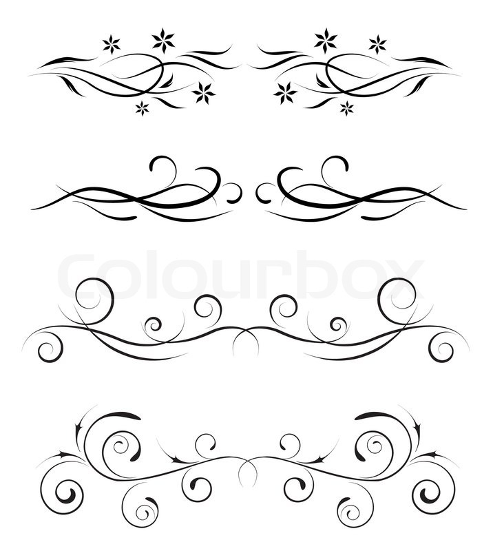 vector vintage borders stock vector colourbox