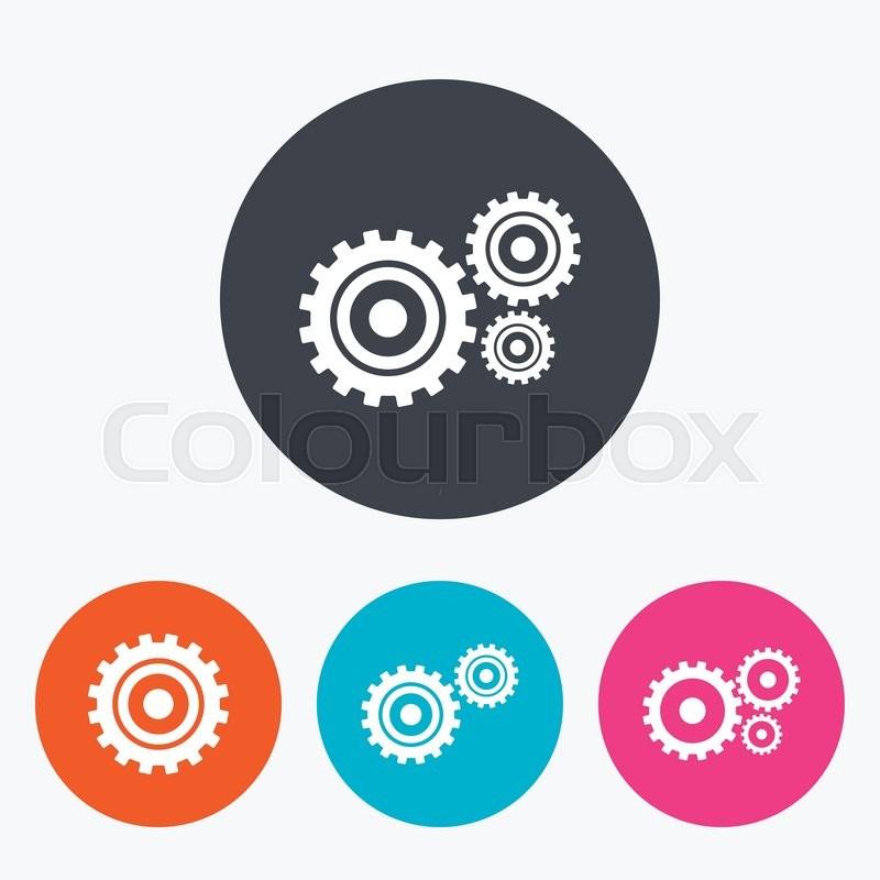 Cogwheel gear icons. Mechanism symbol. ... | Stock Vector ... Register Here Button Orange