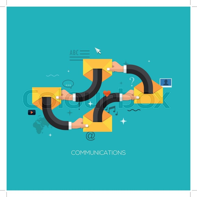 Communication Process Flat Web Infographic Technology Online Service Application Internet Business Concept Vector Design Elements For And Mobile