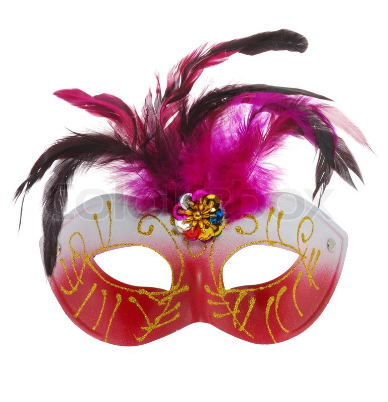 Mask Carnival The Mask Is Isolated On A White Background