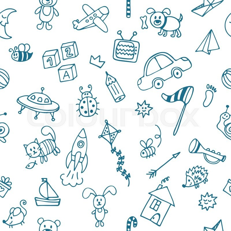 Royaltyfree Background image with drawings of Stock