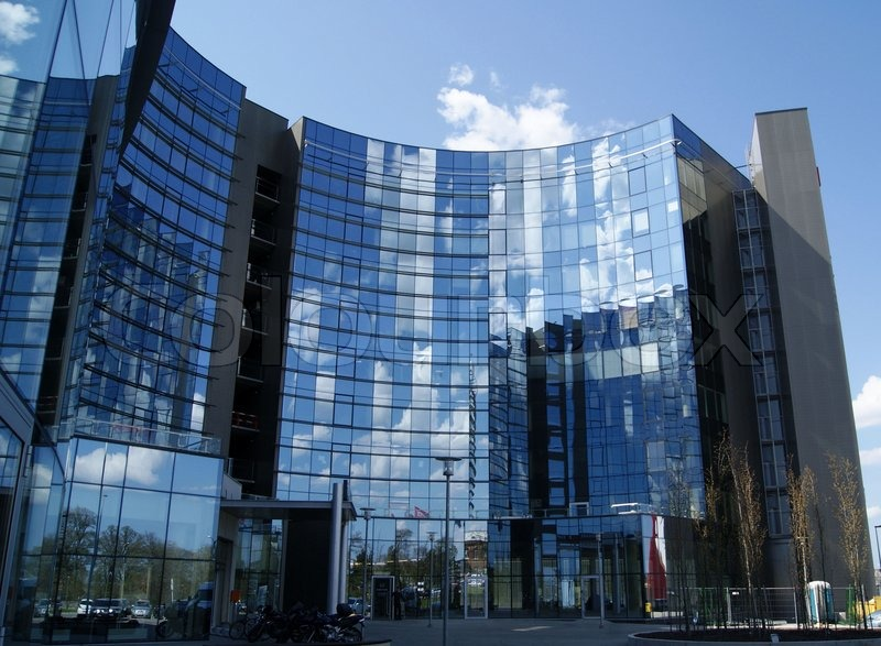 modern office building. Modern Office High Building Is Constructed Of Glass And Concrete | Stock Photo Colourbox