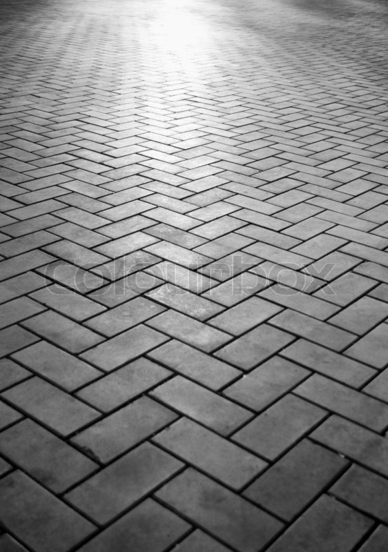 and white tiled sidewalk in a perspective stock photo colourbox