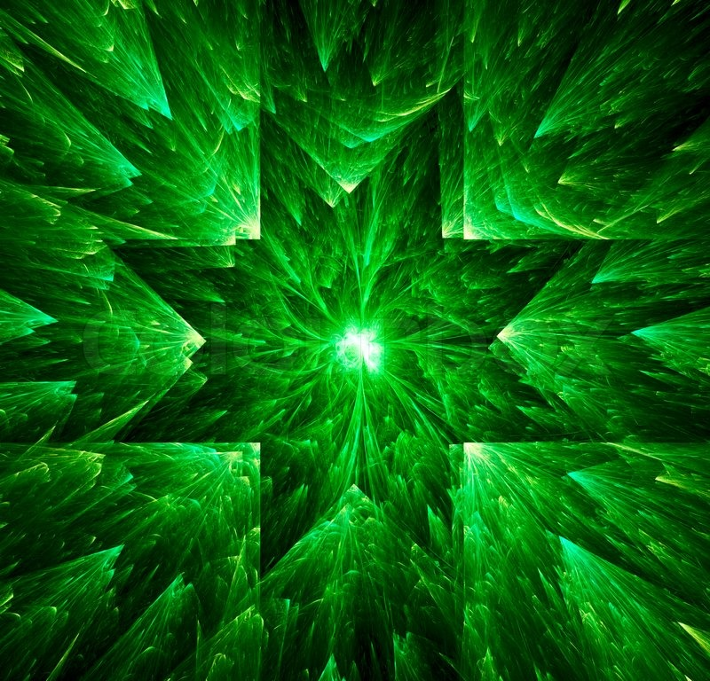 green star abstract background digital generated this