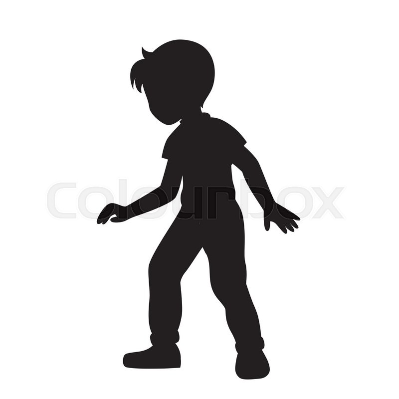 Boy Silhouette Vector Illustration Stock Vector Colourbox Download the perfect boy silhouette pictures. boy silhouette vector illustration