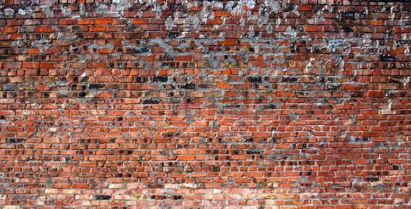 Background From Fragment Burnt Brick Wall Stock Photo
