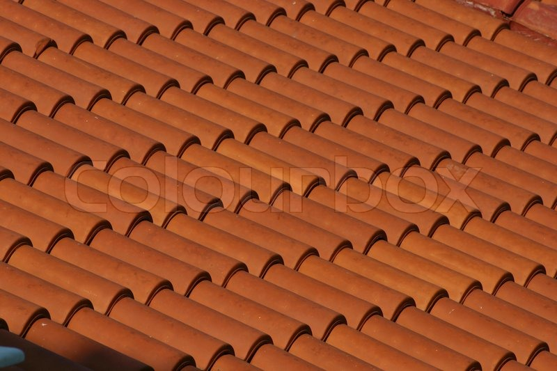 Red Clay Tile Roof Texture Stock Photo Colourbox