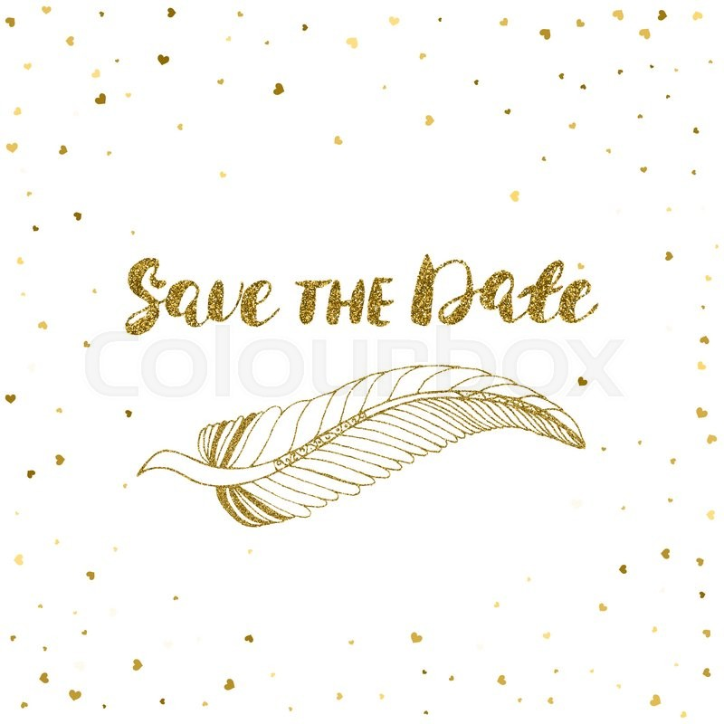 Template for card, banner, flyer, save the date (wedding) invitation ...