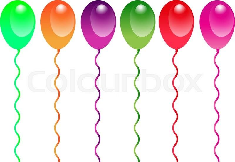 Ballon Zeichnung Clipart Vektorgrafik Colourbox