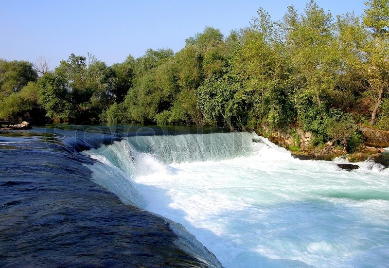 Beautiful river and waterfall in manavgat turkey stock photo colourbox - Impressive house with tranquil environment to get total relaxation ...