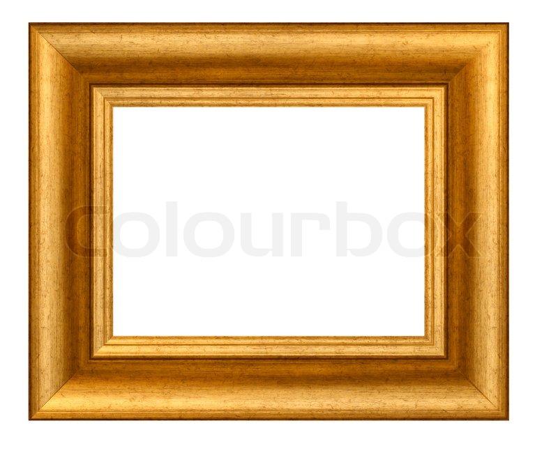 Bilderrahmen Holz Vergoldet ~ Holz vergoldet Bilderrahmen leer  Stock Foto  Colourbox