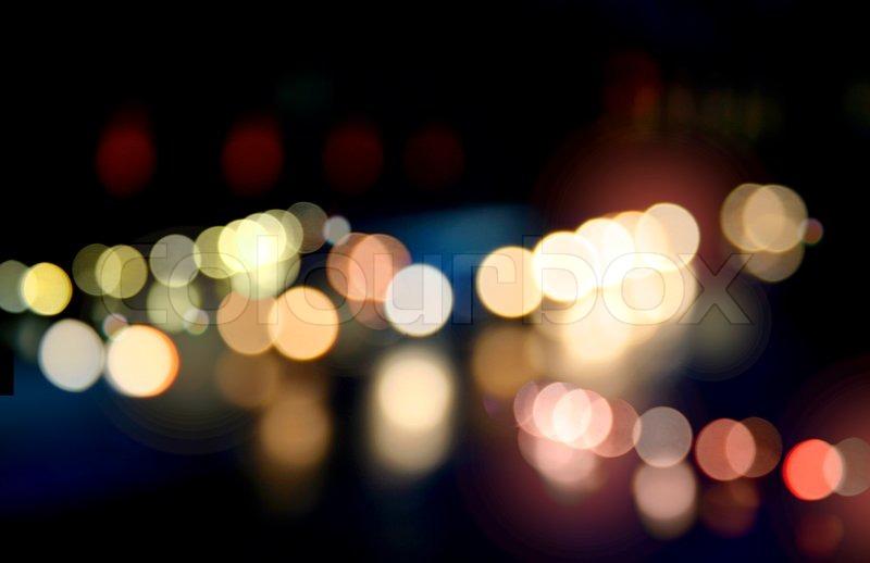 Festive Color Light Spots Chains Blur Background