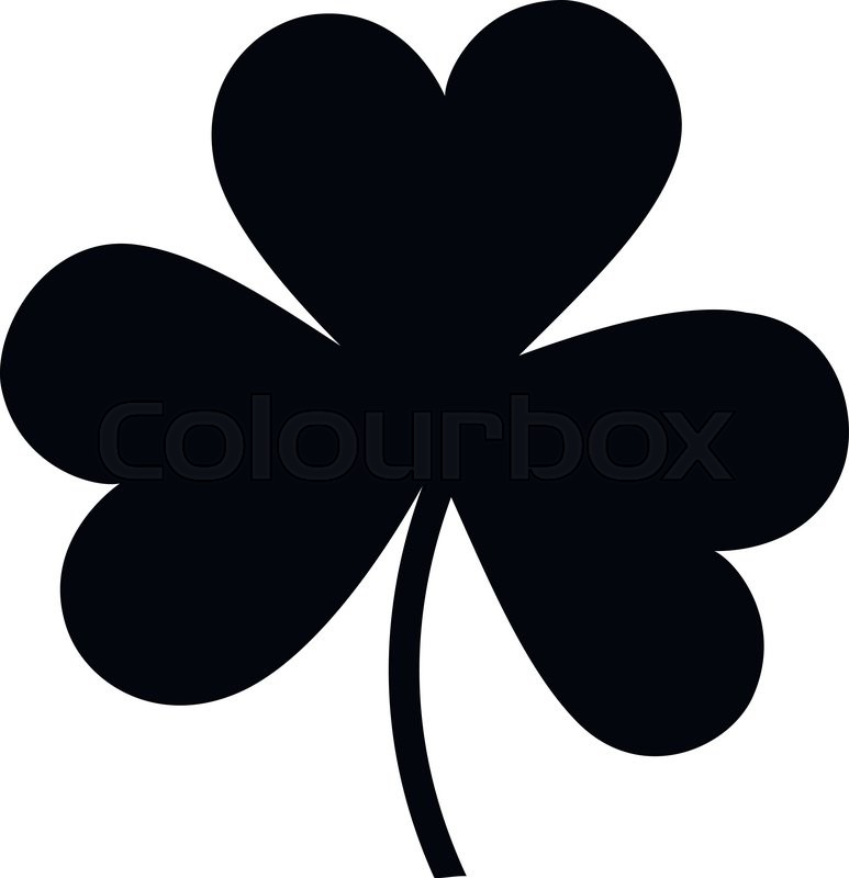 shamrock silhouette icon isolated on white background stock vector rh colourbox com shamrock vector free download shamrock vector art