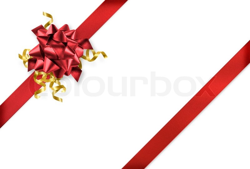 Diagonal red and gold gift wrap ribbon on white background stock diagonal red and gold gift wrap ribbon on white background stock photo negle Image collections
