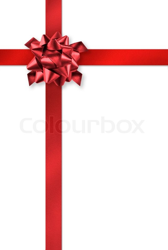 Red gift wrap ribbons on white background stock photo colourbox negle Gallery