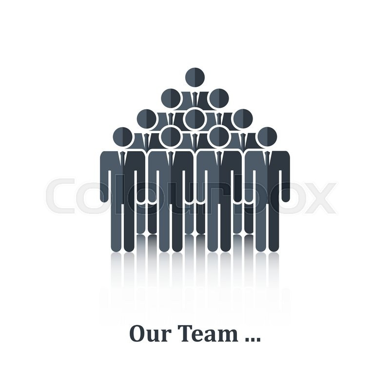 Black Business People Iconsignsymbolpictogramncept Teamwork
