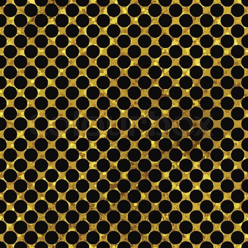 Black And Gold Pattern Abstract Polka Dot Background Vector 17641387 on Decorative Shapes