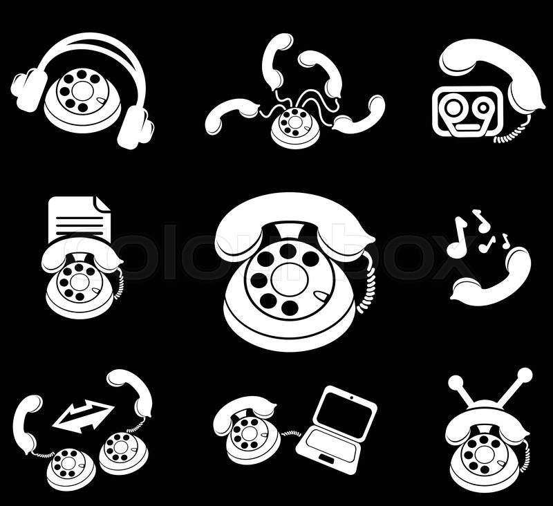 Telephone Simply Symbols For Web And User Interface Stock Vector