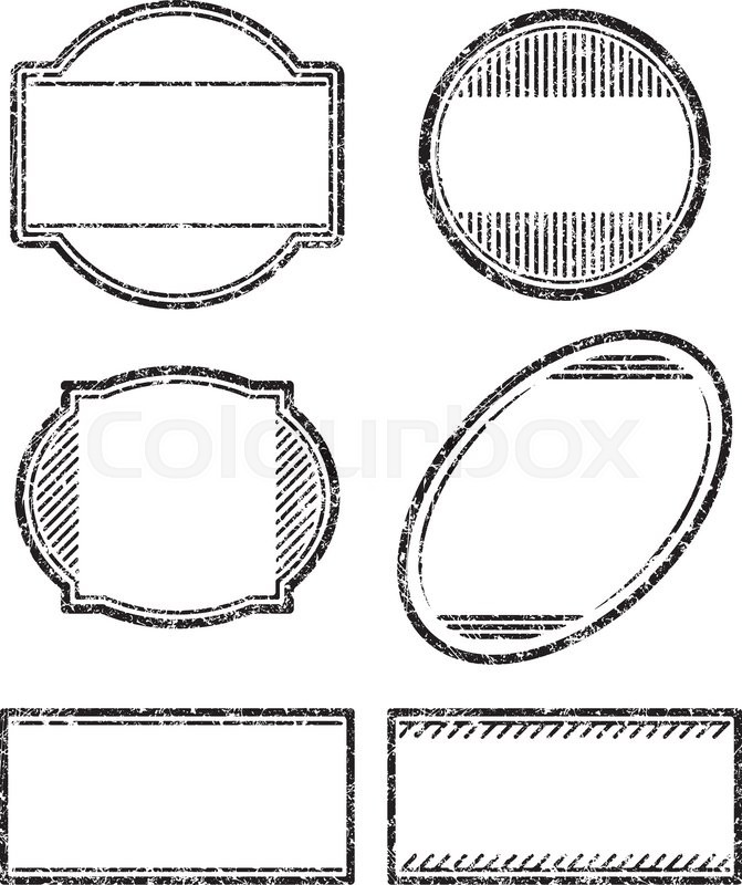set of 6 grunge rubber stamps templates stock vector colourbox